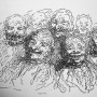 Daumier, Drawing of Heads